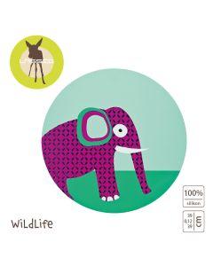 Lassig - Podkładka silikonowa do posiłku Wildlife Słoń