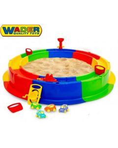 Piaskownica Wader dla dzieci Ø136 cm z torem wodnym duża plastikowa, piaskownice - zdjęcie 1