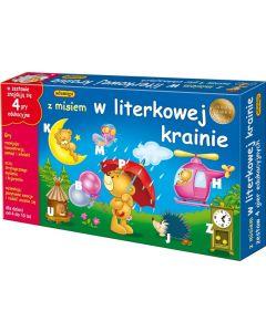 Z misiem w literkowej krainie Adamigo - zestaw 4 gier edukacyjnych dla 4 latka - zdjęcie 1