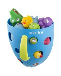 Akuku pojemnik na zabawki kąpielowe niebieski - zdjęcie 1
