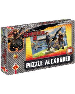 Warcaby 12 gier na 1 planszy Alexander + puzzle Smoka 2  - zdjecie 1