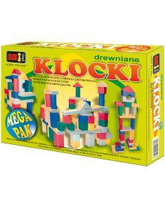 Klocki drewniane Ami Play kolorowe mega paczka - zdjęcie 1