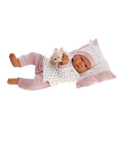 Hiszpańska lalka bobas Antonio Juan 52 cm mówi i gaworzy Berta Pijama - zdjęcie 1