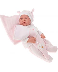 Hiszpańska lalka bobas Antonio Juan 40 cm Nacida różowa - zdjęcie 1