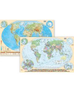 Mapa świata podkładka na biurko dwustronna Art Glob - zdjęcie 1