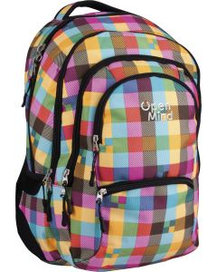 Plecak młodzieżowy Open Mind ASTRA w kratkę - zdjęcie 1