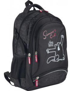Plecak szkolny nieprzemakalny z kotem Simon's cat - zdjęcie 1