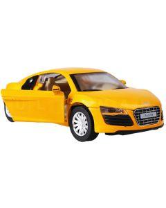 Samochód Audi z efektami świetlnymi i dźwiękiem żółty