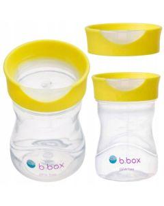 Kubek treningowy b.box Picie jak ze szklanki 12m+ cytrynowy - zdjęcie 1