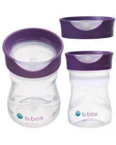 Kubek treningowy b.box Picie jak ze szklanki 12m+ malinowy - zdjęcie 1