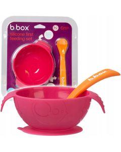 Silikonowa miseczka z przyssawką i łyżeczką b.box Strawberry shake - zdjęcie 1