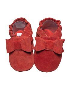 Buciki eleganckie Babice dla niemowląt czerwone - zdjęcie 1