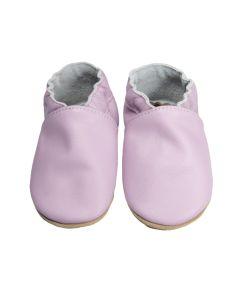 Buciki dziecięce baBice skórzane różowe dla dziewczynek - zdjęcie 1