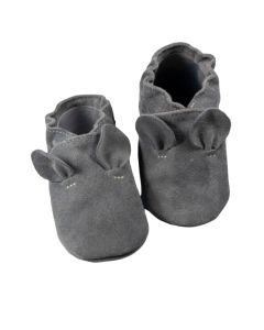 Buciki mokasyny niemowlęce baBice zamszowe z uszkami - zdjęcie 1