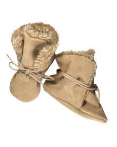 Buty zimowe dla niemowląt - ciepłe niechodki beżowe - zdjęcie 1
