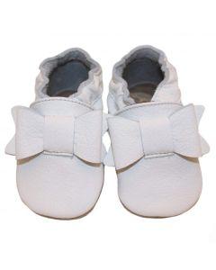 Buciki do chrztu dla dziewczynki białe baBice- zdjęcie 1