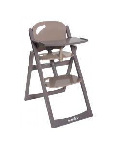 Wysokie krzesełko do karmienia drewniane Babymoov taupe