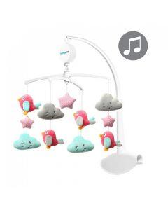 Karuzela do łóżeczka z pozytywką BabyOno różowa - zdjęcie 1