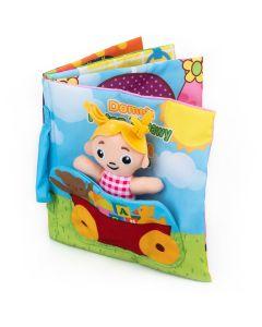 Książeczka domek pełen zabaw Balibazoo - miekka ksiazeczka dla niemowlat - zdjęcie 1