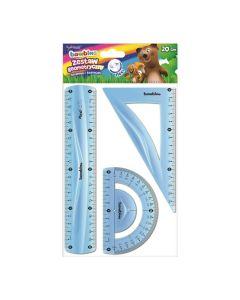 Zestaw geometryczny elastyczny Bambino flexi 20 cm niełamliwy i bezpieczny