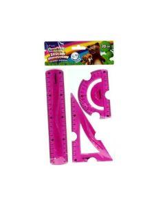 Zestaw geometryczny elastyczny Bambino flexi 20 cm niełamliwy i bezpieczny - zdjęcie 1