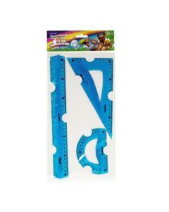 Zestaw geometryczny elastyczny Bambino flexi 30cm niełamliwy i bezpieczny - zdjęcie 1