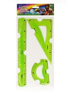Zestaw geometryczny elastyczny Bambino flexi 30cm niełamliwy i bezpieczny - zdjecie 1