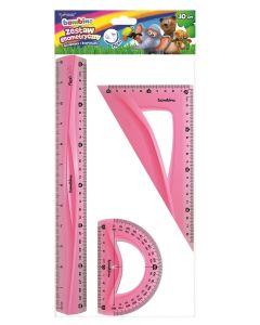 Zestaw geometryczny elastyczny 30cm flexi Bambino niełamliwy i bezpieczny