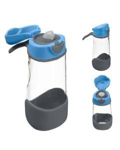 Butelka tritanowa ze słomką b.box Blue Slate 450 ml - zdjęcie 1