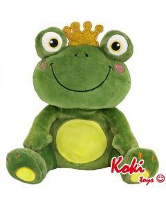 Żaba z koroną maskotka przytulanka pluszak - zdjęcie 1