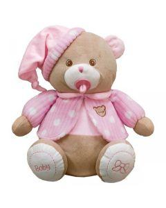 Miś baby różowy Beppe ze smoczkiem 28cm zdjęcie 1