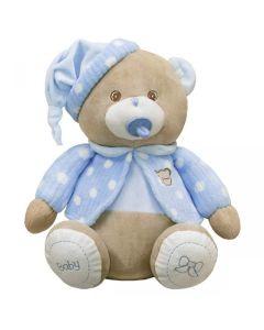 Miś baby niebieski Beppe ze smoczkiem 28cm zdjęcie 1