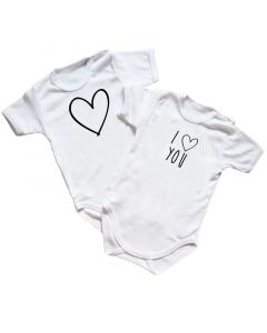 Body niemowlęce Moocha wielopak z napisami I love you - zdjęcie 1