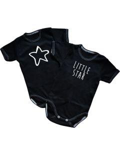 Body niemowlęce wielopak z napisami Little star - Zdjęcie 1