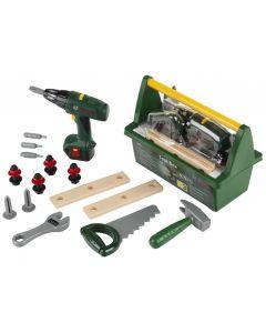 Skrzynka z wkrętarką i narzędziami