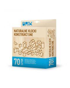 Klocki drewniane ekologiczne Brik naturalne 70 sztuk - zdjęcie 1