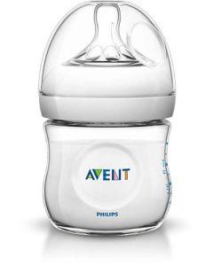 Butelka do karmienia imitująca pierś Philips Avent Natural 125ml + pokrywka uszczelniająca  - zdjęcie 1