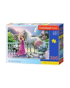 Puzzle Mój przyjaciel Jednorożec Castorland 300el. - zdjęcie nr 1