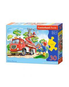 Duże puzzle Straż pożarna ratuje kotki Castorland 30 el. - zdjęcie 1