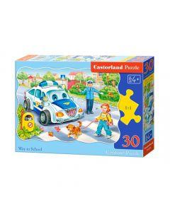 Duże puzzle droga do szkoły Castorland 30 el. - zdjęcie nr 1