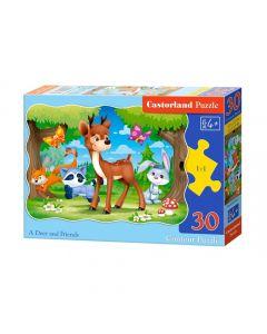 Duże puzzle leśne zwierzęta Castorland 30 el. - zdjęcie nr 1