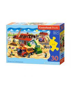 Duże puzzle budowa domu Castorland 30 el. - zdjęcie nr 1