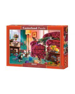 Puzzle koty i kotki bawiące się Castorland 500 elementów - zdjęcie 1