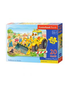 Puzzle dla chłopca 4 lata Maxi koparka na budowie Castorland 20 el. - zdjęcie 1