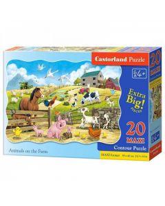 Puzzle Maxi zwierzęta na farmie Castorland  20 el. - zdjęcie nr 1