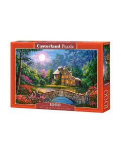Puzzle castorland krajobraz księżyc domek ogród - zdjęcie 1