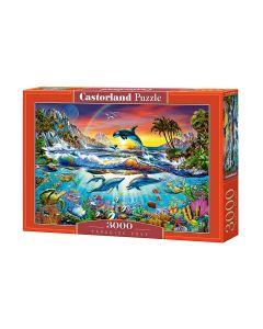 Puzzle delfiny i rafa koralowa Castorland 3000 el. - zdjecie 1