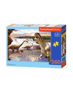 Puzzle dinozaury  Diplodocus Castorland 260 el. - zdjęcie 1