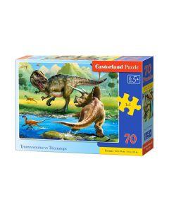 Puzzle dinozaur dinozaury duże elementy 70 Castorland - zdjęcie 1