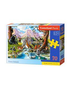 Puzzle leśne zwierzęta duże elementy 70 Castorland - zdjęcie 1